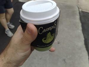 Campos takeaway long black