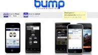 Bump is a cool little app that shares information between two phones that have been knocked together. Using the phone's sensors, Bump determines which phones have just touched, and shares the selected information and files between the two handsets.