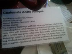 Guatemala Acate Antiqua