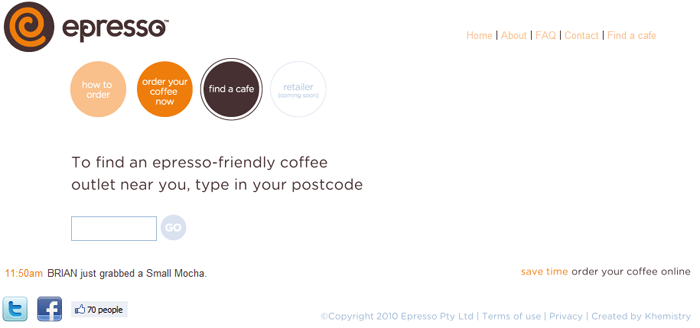Epresso for buying coffee online