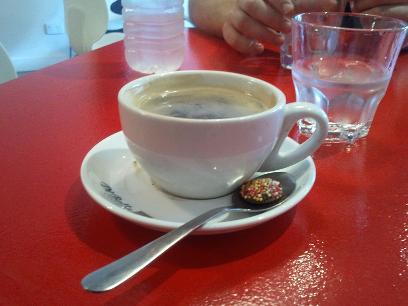 Long Black Coffee at Sip Cafe