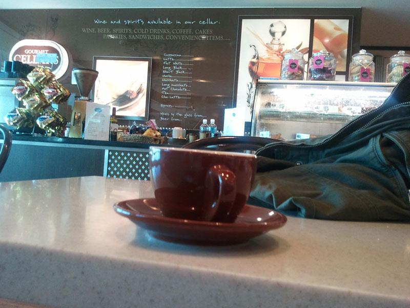 Coffee at Gourmet Cellars