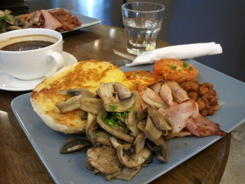 Espresso Boutique Big Breakfast, minus eggs