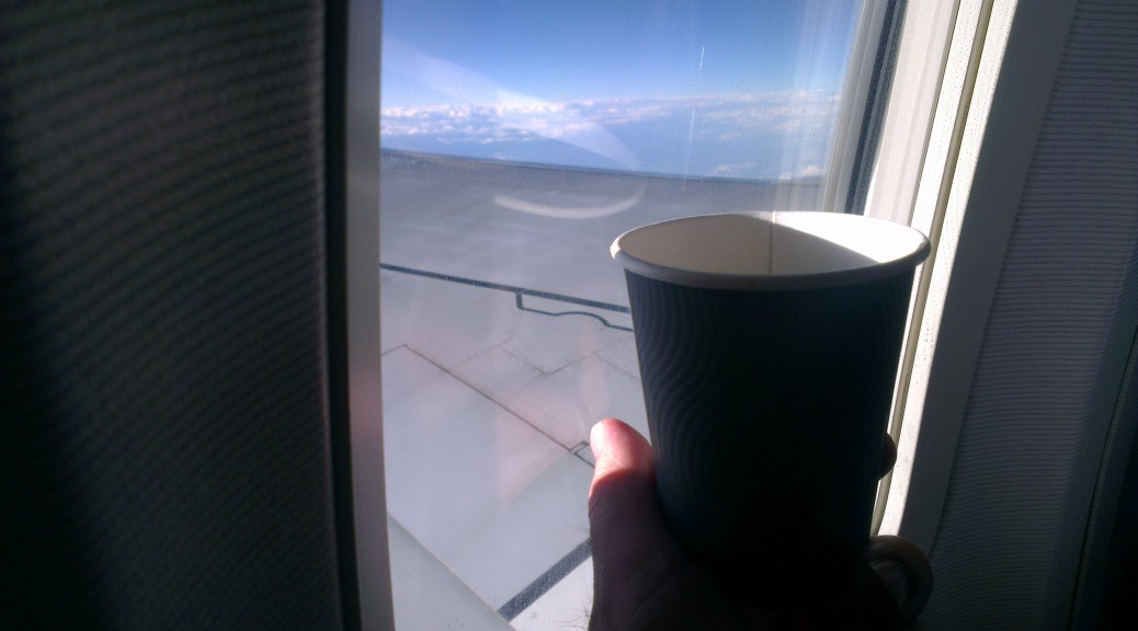 Coffee on a Plane